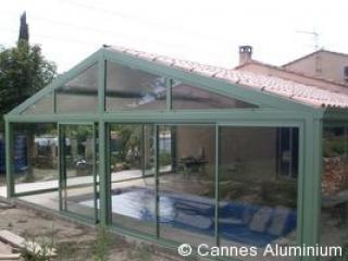 veranda double pente en thermotuile