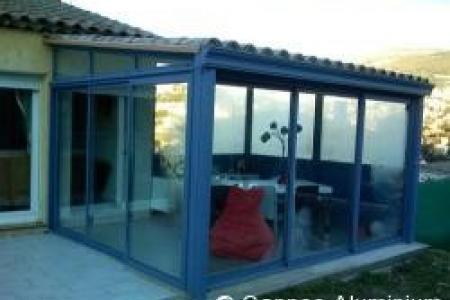 veranda à grasse en thermotuile