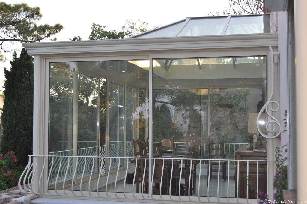 veranda toit plat avec dome en verre - Vente Véranda Mandelieu Cannes