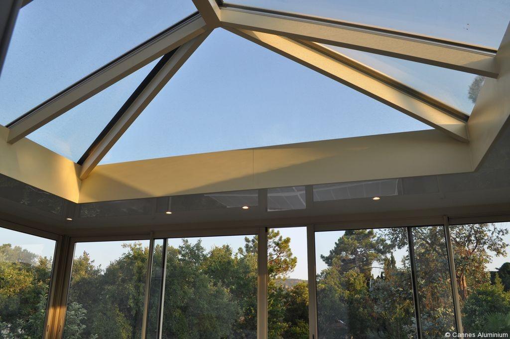 veranda toit plat avec dome en verre cannes 06 antibes mandelieu. Black Bedroom Furniture Sets. Home Design Ideas