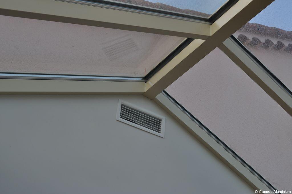veranda toit plat avec dome en verre cannes 06 antibes mandelieu