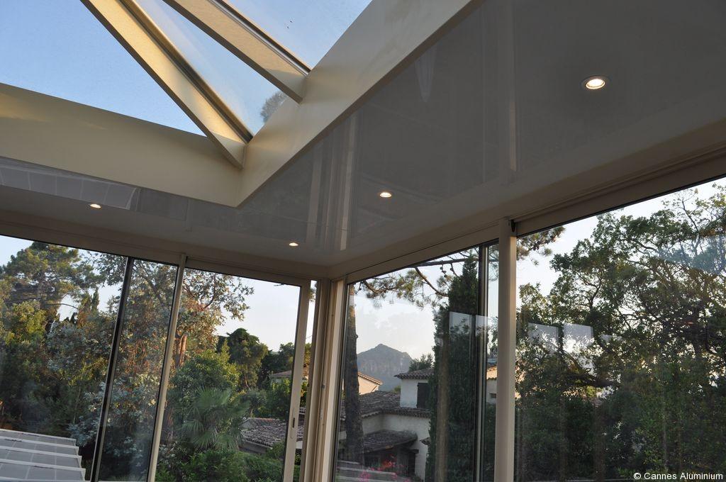 veranda toit plat avec dome en verre cannes 06 antibes. Black Bedroom Furniture Sets. Home Design Ideas